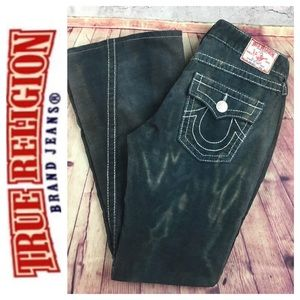 ☮️TRUE RELIGION Joey Big T green cord pant size 29